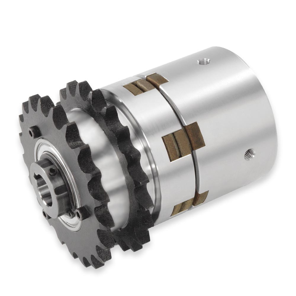 Double Single Sprocket Clutch-Brakes To Stop and Start the Shaft